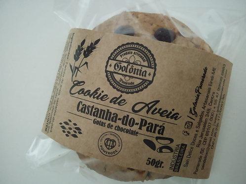 6 Cookies de Aveia Castanha-do-Pará