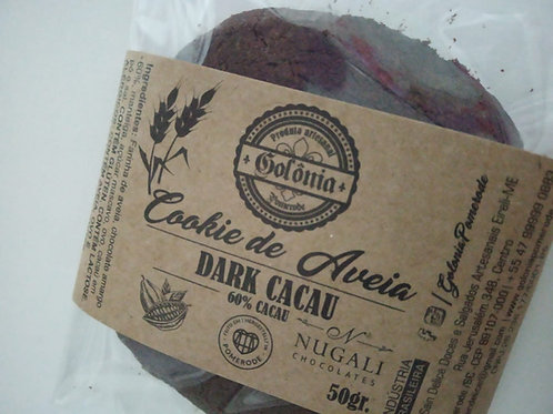 6 Cookies de Aveia Dark CACAU Nugali