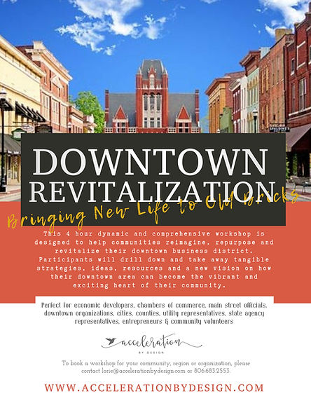 Downtown Revitalization Workshop Brochur