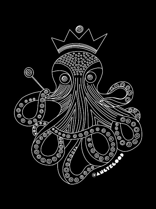 Holographic Octopus Sticker