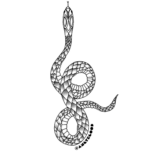 Holographic Snake Sticker