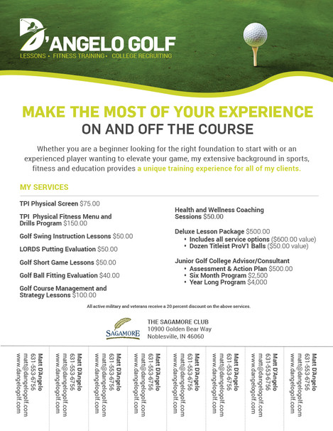 D'Angelo Golf Flyer