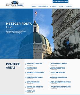 Metzger Rosta LLP Website