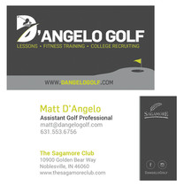 D'Angelo Golf Business Card