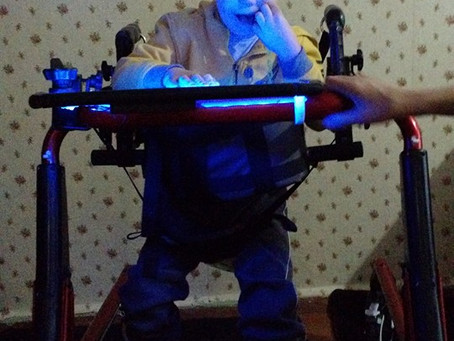 Damiano Enjoys New Gait Trainer