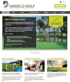 D'Angelo Golf Website