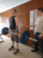Sam Wegrzynowski deadlifting without back pain