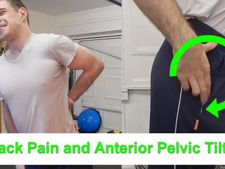 Back Pain and Anterior Pelvic Tilt