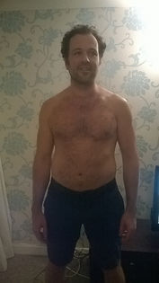 Client James Connolly before weight loss