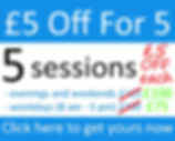£5 Off Offer fo Sutton Coldfield based personal trainer James Titchen