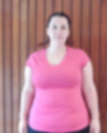 Weight loss cient Amy Hollis before training