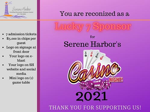 Casino Night 2021 -LUCKY 7 SPONSOR