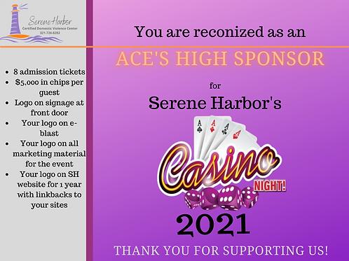 Casino Night 2021 -ACE'S HIGH SPONSOR