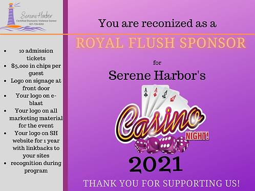 Casino Night 2021 -ROYAL FLUSH SPONSOR