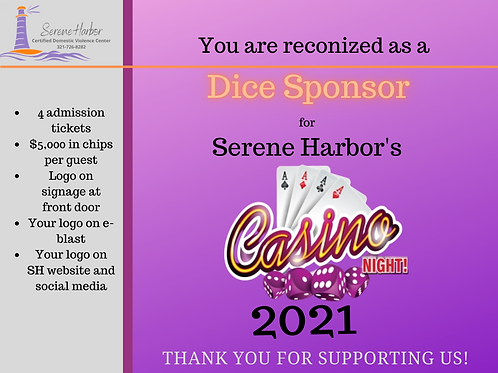 Casino Night 2021 - DICE SPONSOR