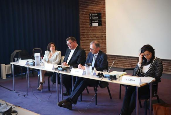 Συνάντηση της Επιτροπής Πολιτικών Υποθέσεων, υπό την προεδρία του Mogens Jensen, στο Μπόρνχολμ (Δανία), τον Ιούνιο του 2017.
