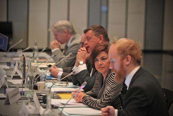 Συνάντηση της Επιτροπής Πολιτικών Υποθέσεων, υπό την προεδρία του Mogens Jensen, στο Ρέικιαβικ (Ισλανδία), τον Σεπτέμβριο του 2016.