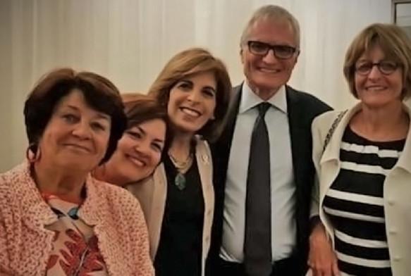 Με την πρώην Πρόεδρο της Επιτροπής Πολιτικών Υποθέσεων, Ria Oomen-Ruijten και τους πρώην Προέδρους της Ολομέλειας, Στέλλα Κυριακίδη, Michele Nicoletti και Anne Brasseur, τον Μάιο του 2018.