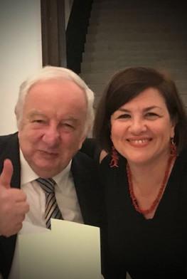 Με τον Λόρδο Georges Foulkes (Ηνωμένο Βασίλειο), στο Ντουμπρόβνικ (Κροατία), τον Νοέμβριο του 2018