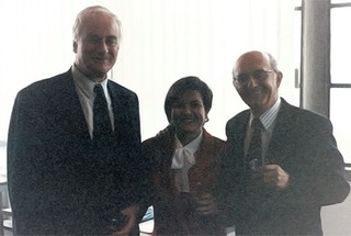With former President of the European University Institute (EUI) Patrick Masterson and Professor Antonio Cassese, when I defended my PhD thesis at the EUI (Florence, Italy), on 28 October 1994