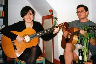 Singing with Spyros, in September 1997