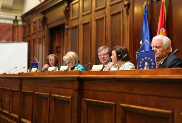 Συνάντηση της Επιτροπής Πολιτικών Υποθέσεων, υπό την προεδρία του Bjorn von Sydow, στο Βελιγράδι (Σερβία), το 2010.