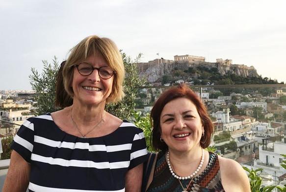 Με την πρώην Πρόεδρο της Κοινοβουλευτικής Συνέλευσης του Συμβουλίου της Ευρώπης Anne Brasseur, (Λουξεμβούργο), στην Αθήνα, τον Μάιο του 2018.