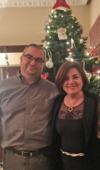 Avec mon frère Michalis, décembre 2019