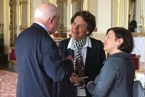 Με την πρώην Γενική Γραμματέα του Συμβουλίου της Ευρώπης, Catherine Lalumière, και τον πρώην Πρόεδρο του Ευρωπαϊκού Δικαστηρίου Ανθρωπίνων Δικαιωμάτων, Jean Paul Costa, τον Μάιο του 2019.