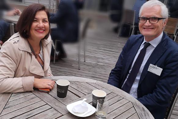 Με τον πρώην Πρόεδρο της Κοινοβουλευτικής Συνέλευσης του Συμβουλίου της Ευρώπης Michele Nicoletti (Ιταλία), στο Στρασβούργο, τον Οκτώβριο του 2018.
