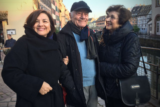 With my parents Iordanis and Angeliki, in Strasbourg, in May 2018