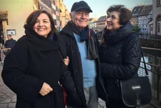 Avec mes parents Iordanis et Angeliki, à Strasbourg, mai 2018