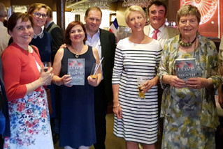 With Baroness Doreen Massey and other MPs and friends, celebrating the publication of Doreen's book Love and Death in Shanghai, in Strasbourg, in June 2018