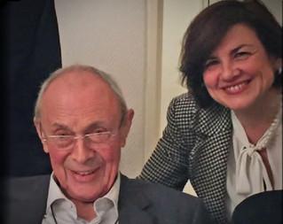 Avec l'ancien Premier ministre français Michel Rocard, à Strasbourg, novembre 2015