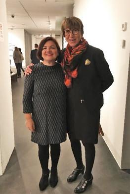 Με την Maryvonne Blondin (Γαλλία) στο Ροβανιέμι (Φινλανδία), τον Δεκέμβριο του 2019.