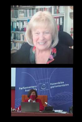 Εξ αποστάσεως συνάντηση της Επιτροπής Πολιτικών Υποθέσεων, υπό την προεδρία της Dame Cheryl Gillan, τον Μάιο του 2020.