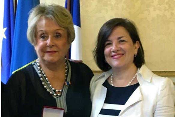 Με την Josette Durieu (Γαλλία), στη Γαλλική Γερουσία, στο Παρίσι, τον Ιούνιο του 2017.