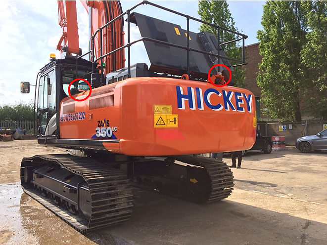 360 camera system for excavators and all plant/machines SKANSKA compliant