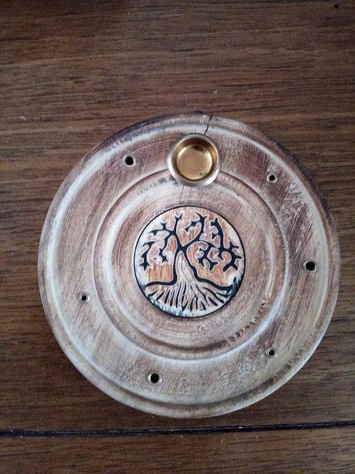 Wooden Round burners