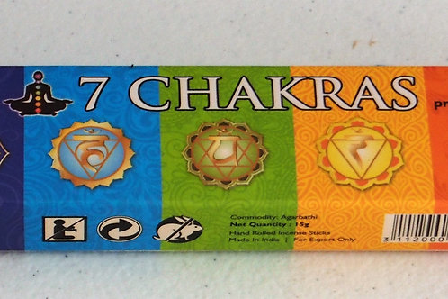 7 Chakras incense 15g