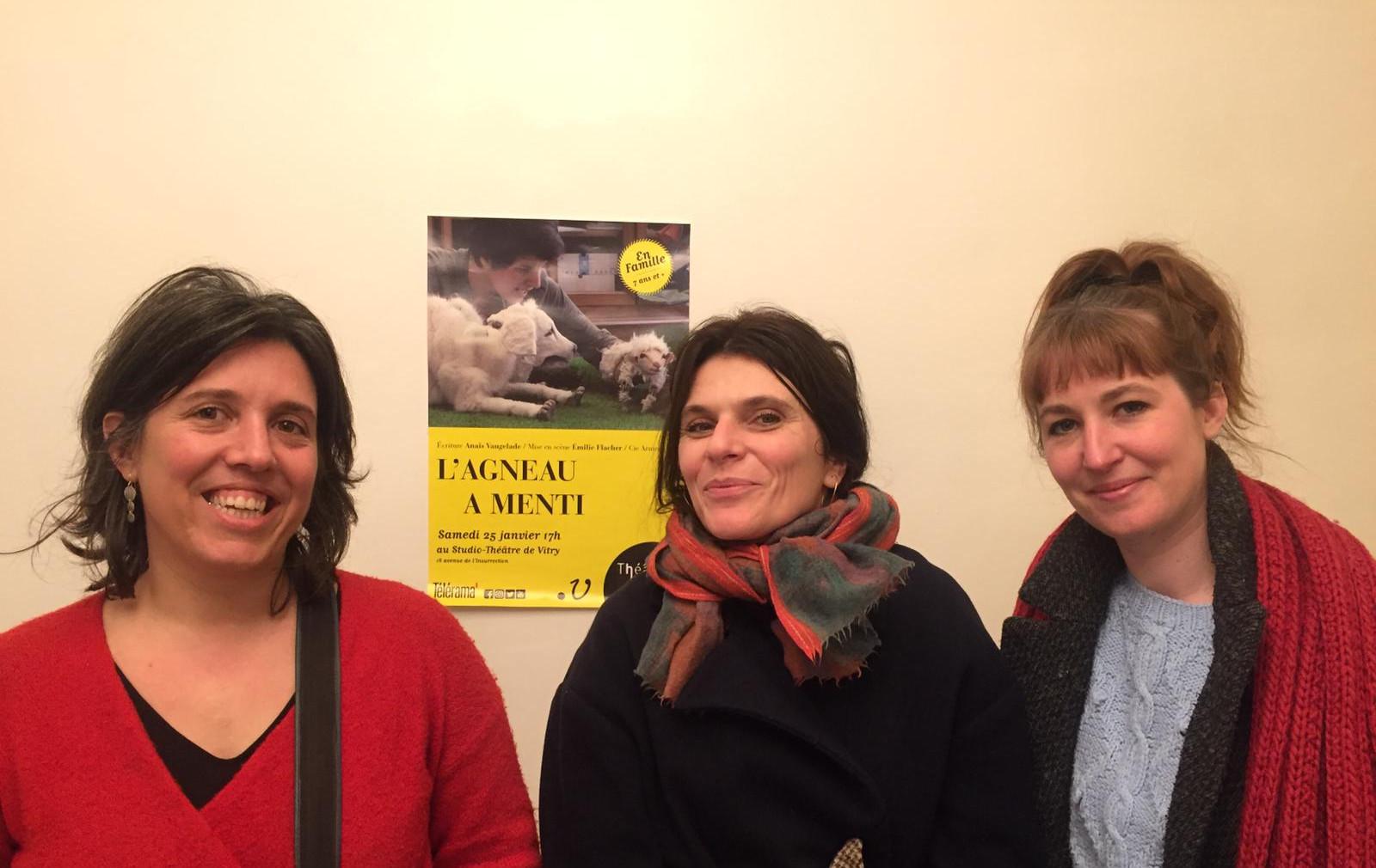 Emilie Flacher avec Anaïs Vaugelade, Gwendoline Soublin &