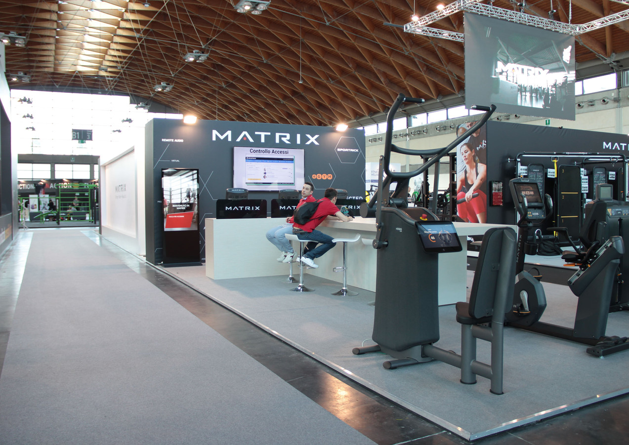 Allestimento GLSAdvice STand Personalizzato 800 mq Matrix_Rimini wellness