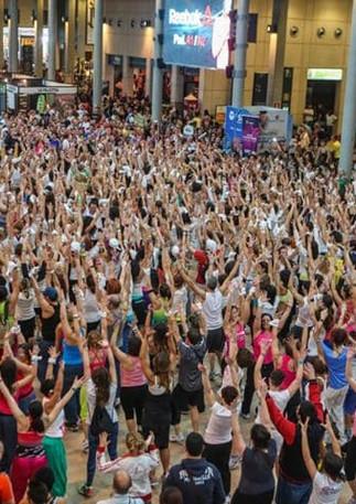 GLSAdvice_ Progettazione e organizzazione Flash mob Reebok Rimini Wellness