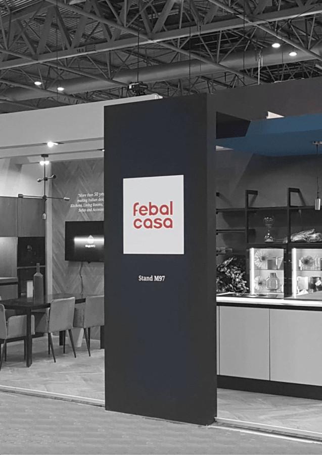 Allestimento GLSAdvice Stand Personalizzato 150 mq Febal_Birmingham