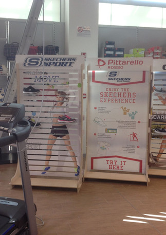 Allestimento GLSAdvice Shop in Shop Skechers in punto vendita Pittarosso Cosenza