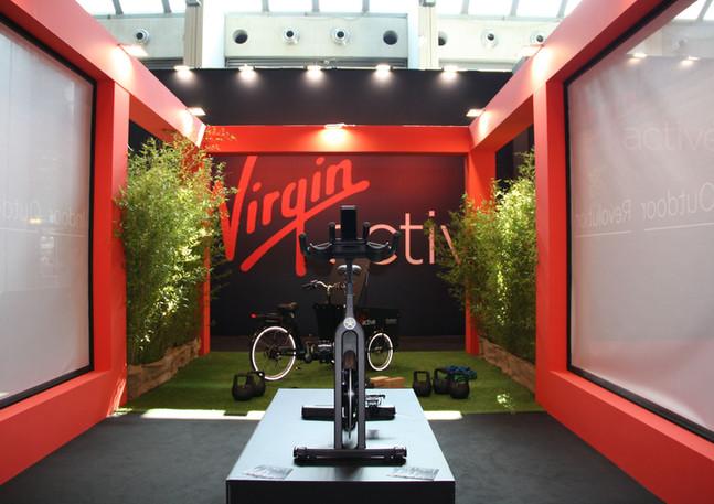 GLSAdvice Progetto e Allestimento Presentazione Cycling Virgin Active Stand Virgin Actice Rimini Wellness