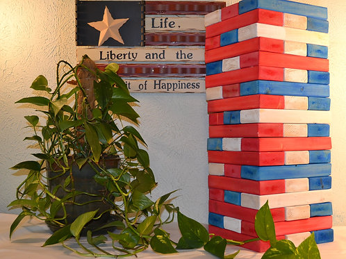 Patriotic Stacking Tower Game
