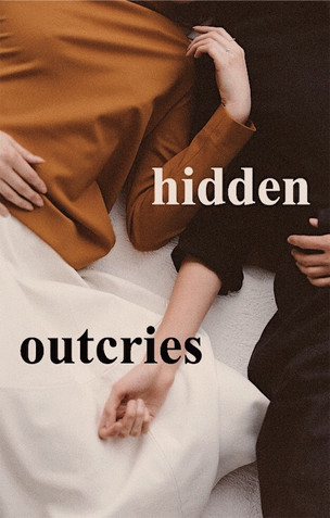 """""""hidden outcries"""" book cover"""
