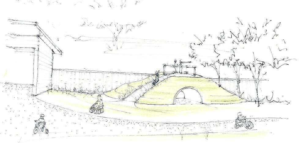 Wellspring Playground Berm
