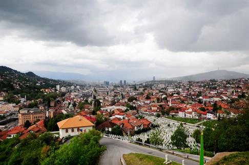 Cloudy sky above Sarajevo